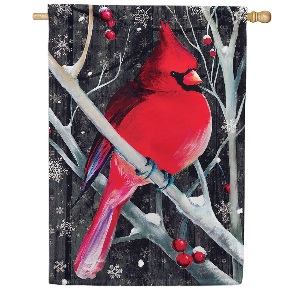 Midnight Cardinal Double Sided House Flag