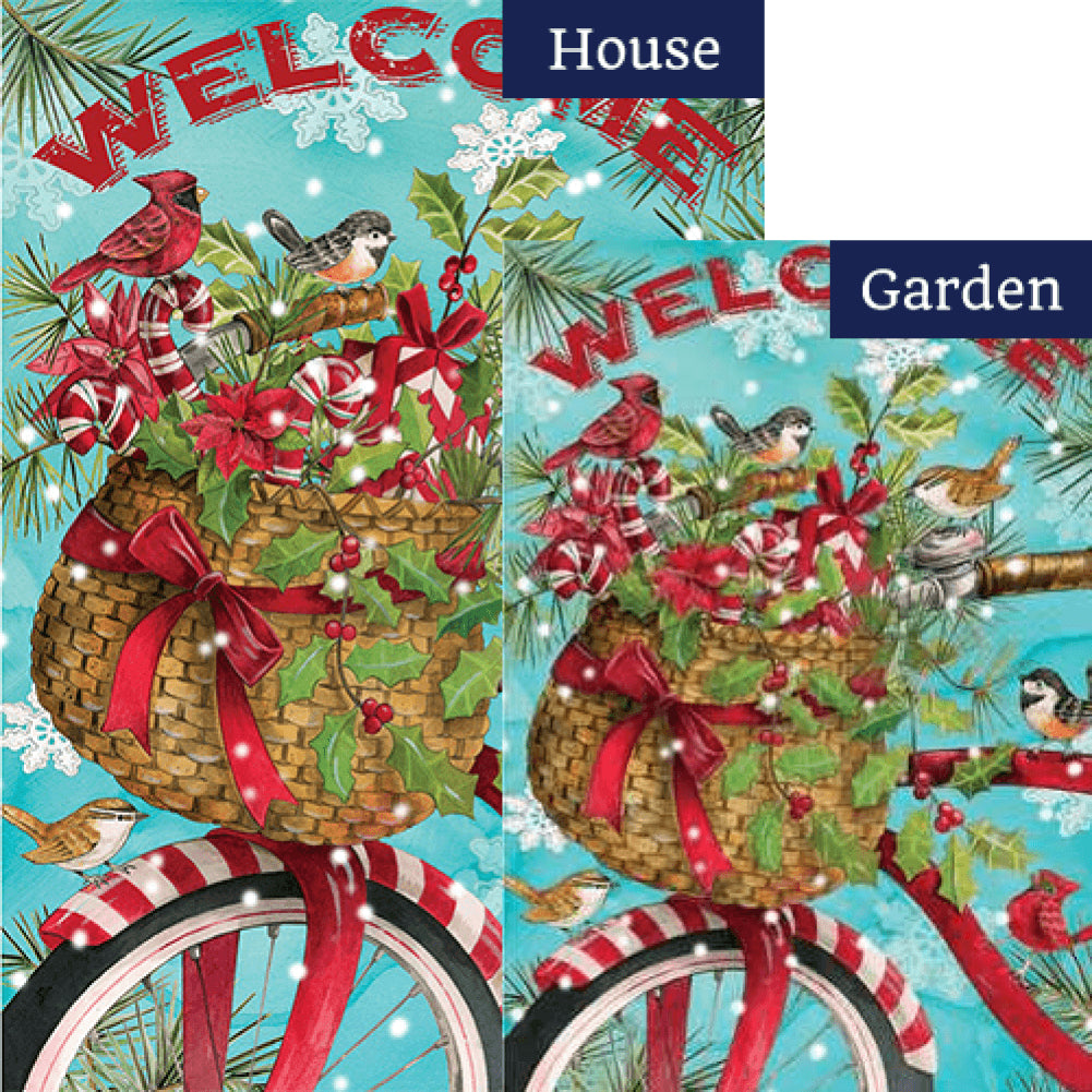 Christmas Bike Double Sided Flags Set (2 Pieces)
