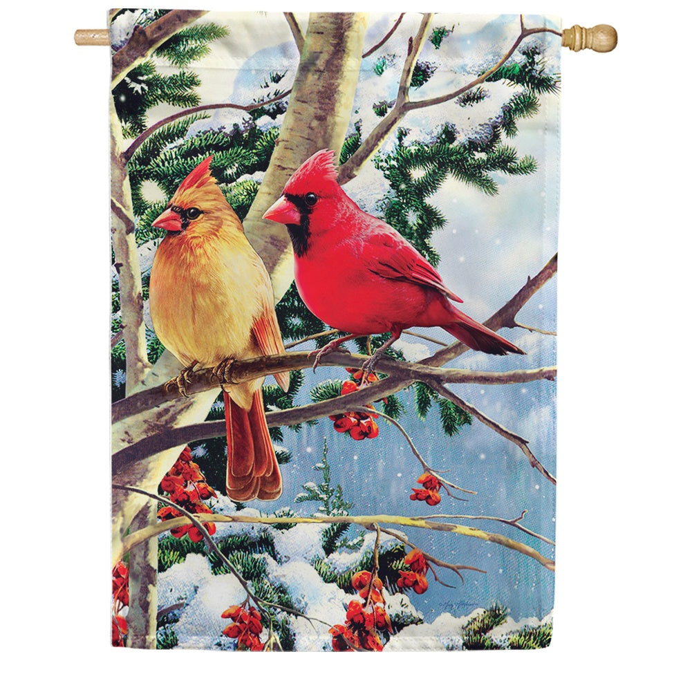 Cardinal Branch Double Sided House Flag