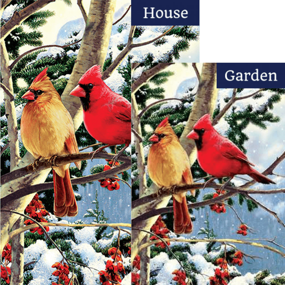 Cardinal Branch Double Sided Flags Set (2 Pieces)