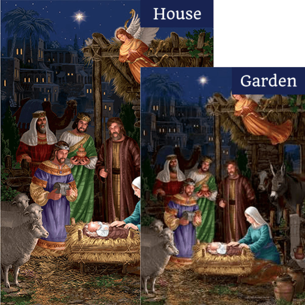 Angel Nativity Double Sided Flags Set (2 Pieces)