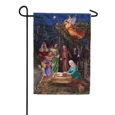 Angel Nativity Double Sided Garden Flag