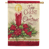 Keep Christ Double Sided Flag