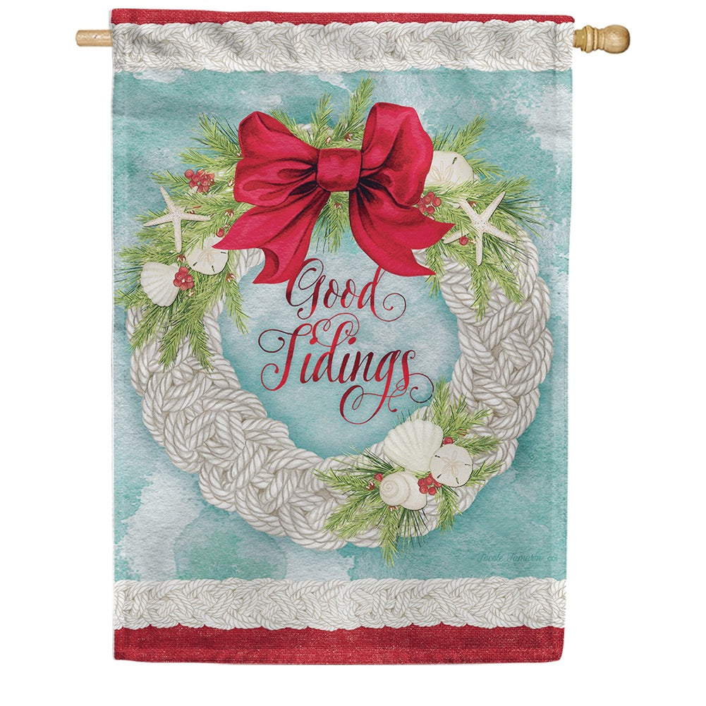 Good Tidings Double Sided House Flag