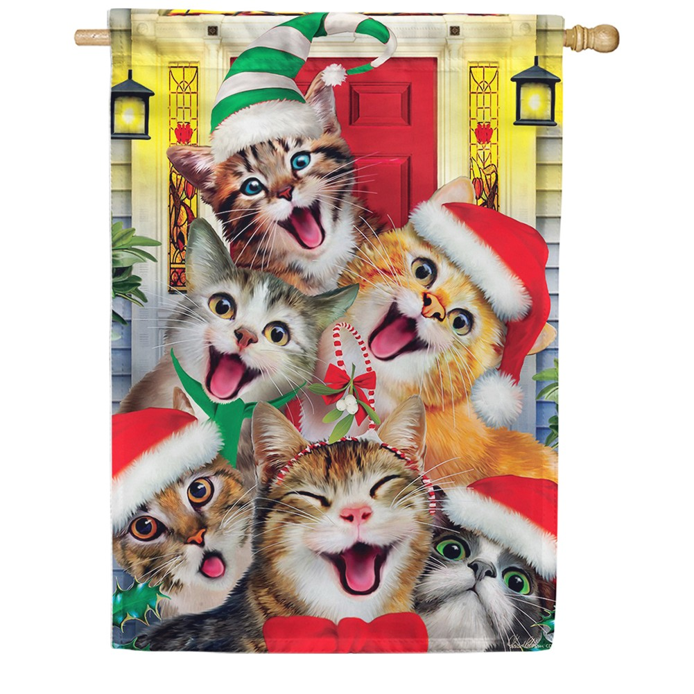 Christmas Cats Double Sided House Flag