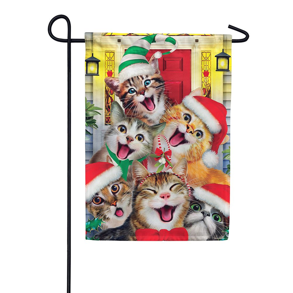 Christmas Cats Double Sided Garden Flag
