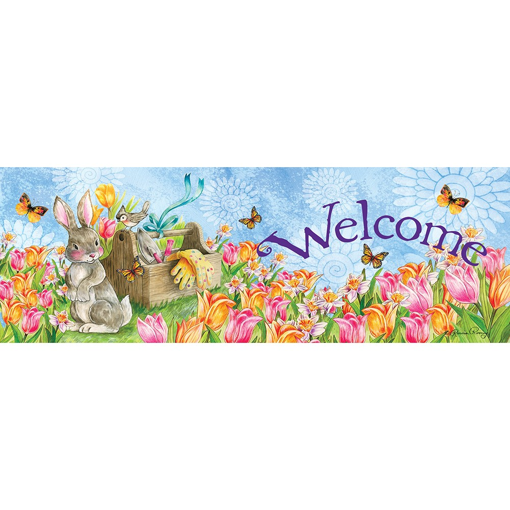Garden Bunny Signature Sign