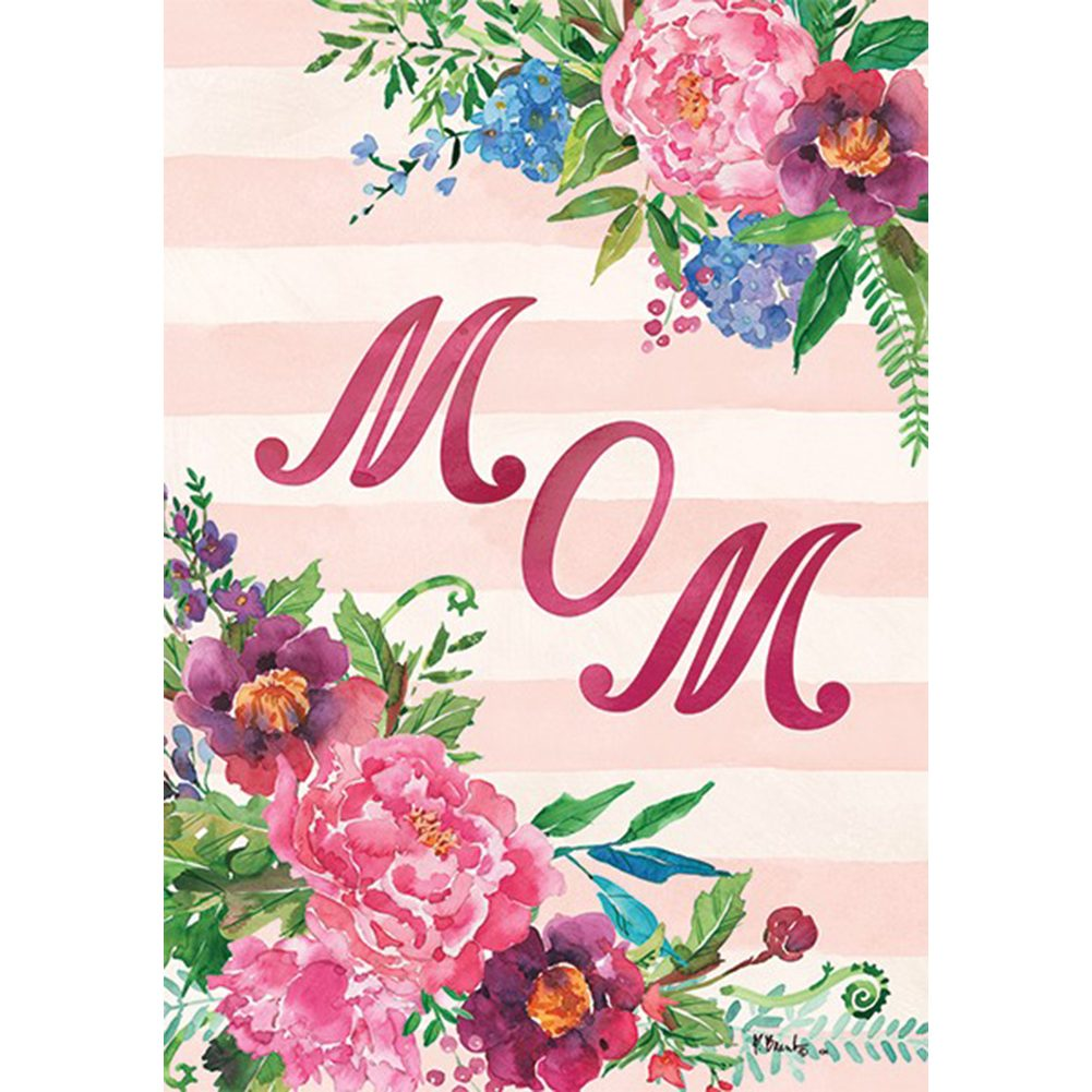 Mom Double Sided House Flag