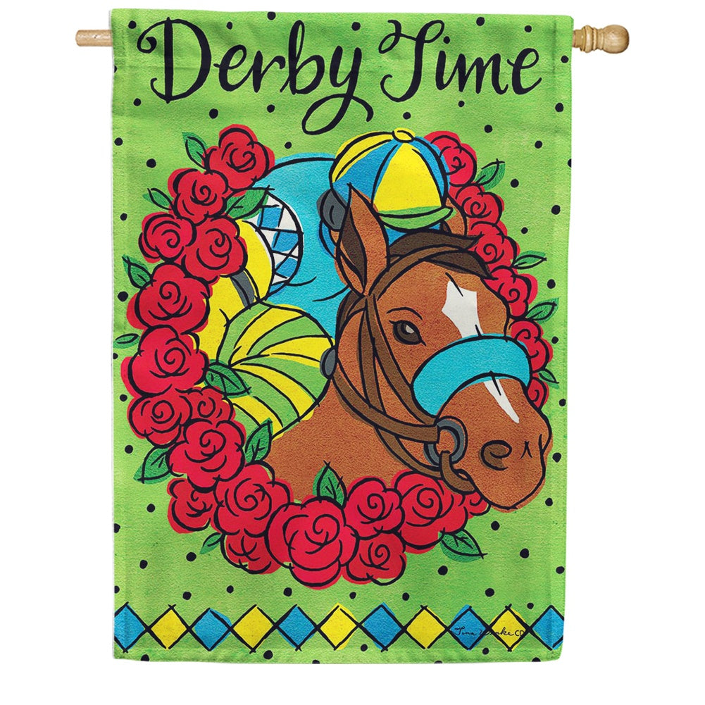 Derby Time Double Sided House Flag