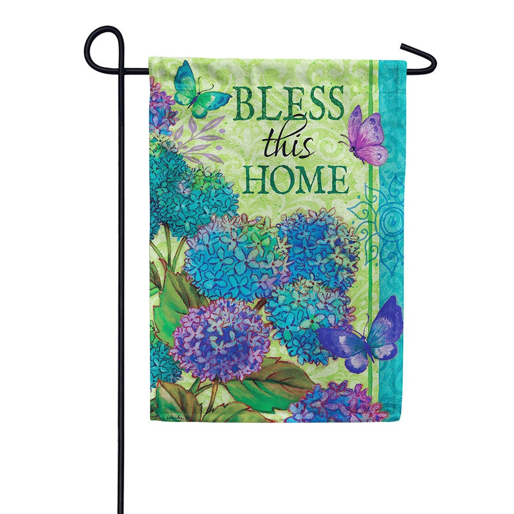 Bless This Home Floral Double Sided Garden Flag