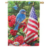 Bluebird Salute Double Sided House Flag