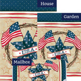 Patriotic Star Wreath Yard Makeover Set (3 Pieces)