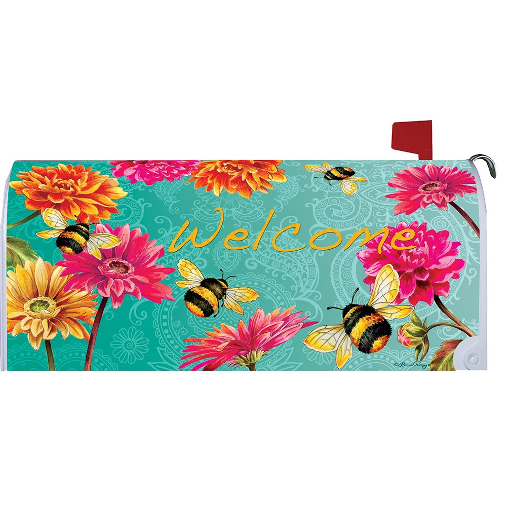 Bumble Bees in the Garden Mailbox Cover