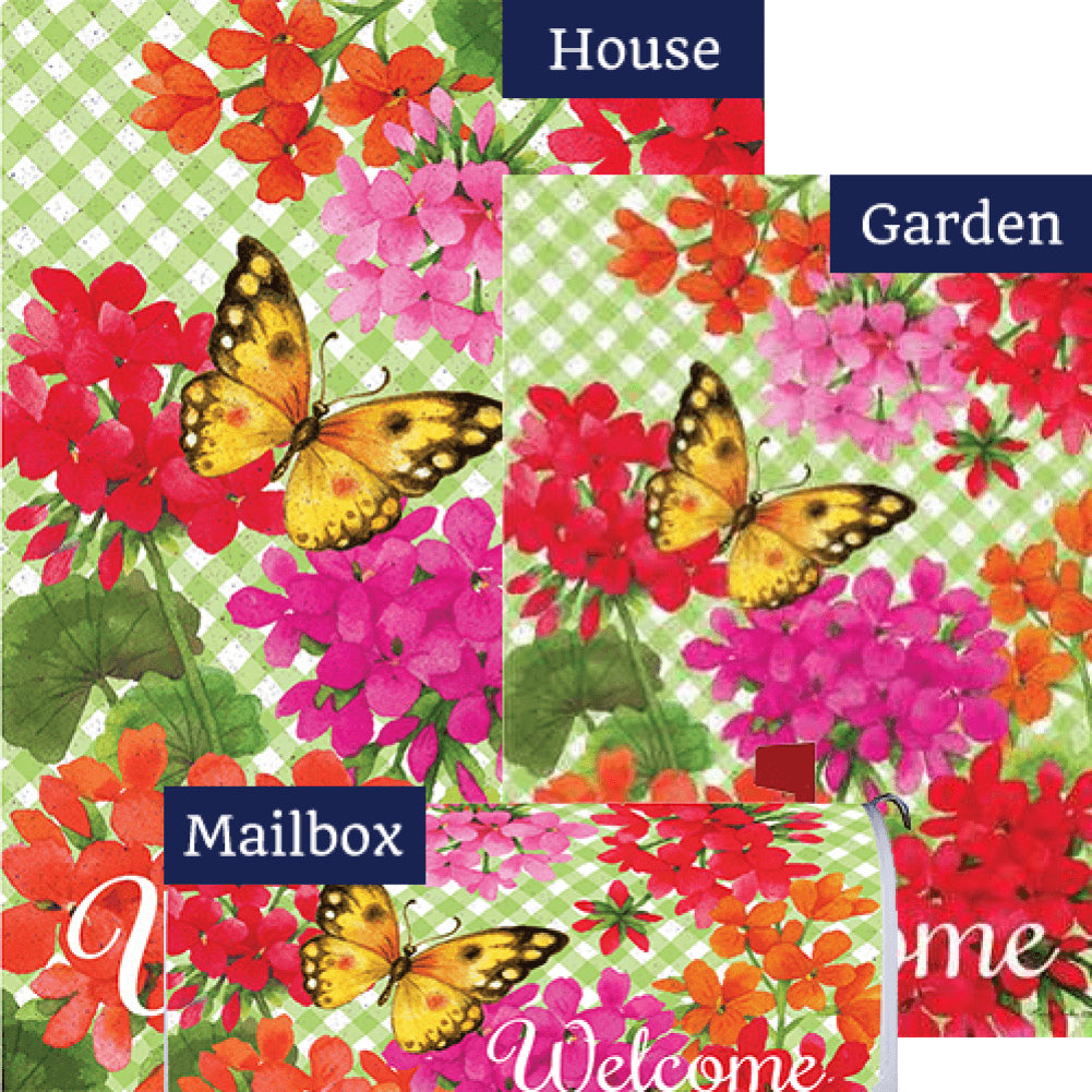 Gingham Geraniums Yard Makeover Set (3 Pieces)
