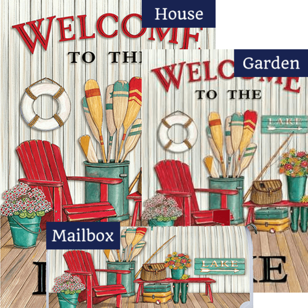 Welcome to the Lake Deck Yard Makeover Set (3 Pieces)