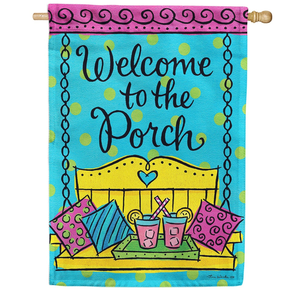 Porch Welcome Double Sided House Flag