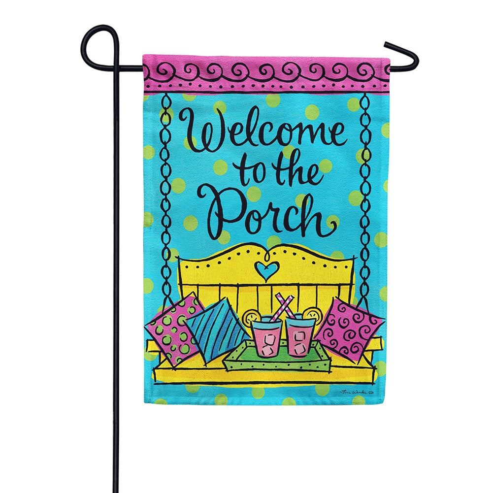 Porch Welcome Double Sided Garden Flag