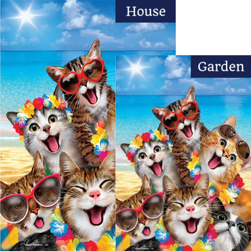 Beach Kittens Flags Set (2 Pieces)