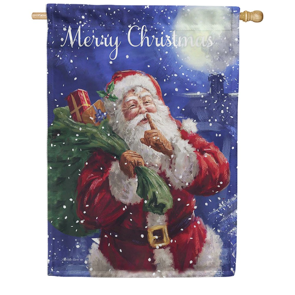 Santa Delivery Double Sided House Flag