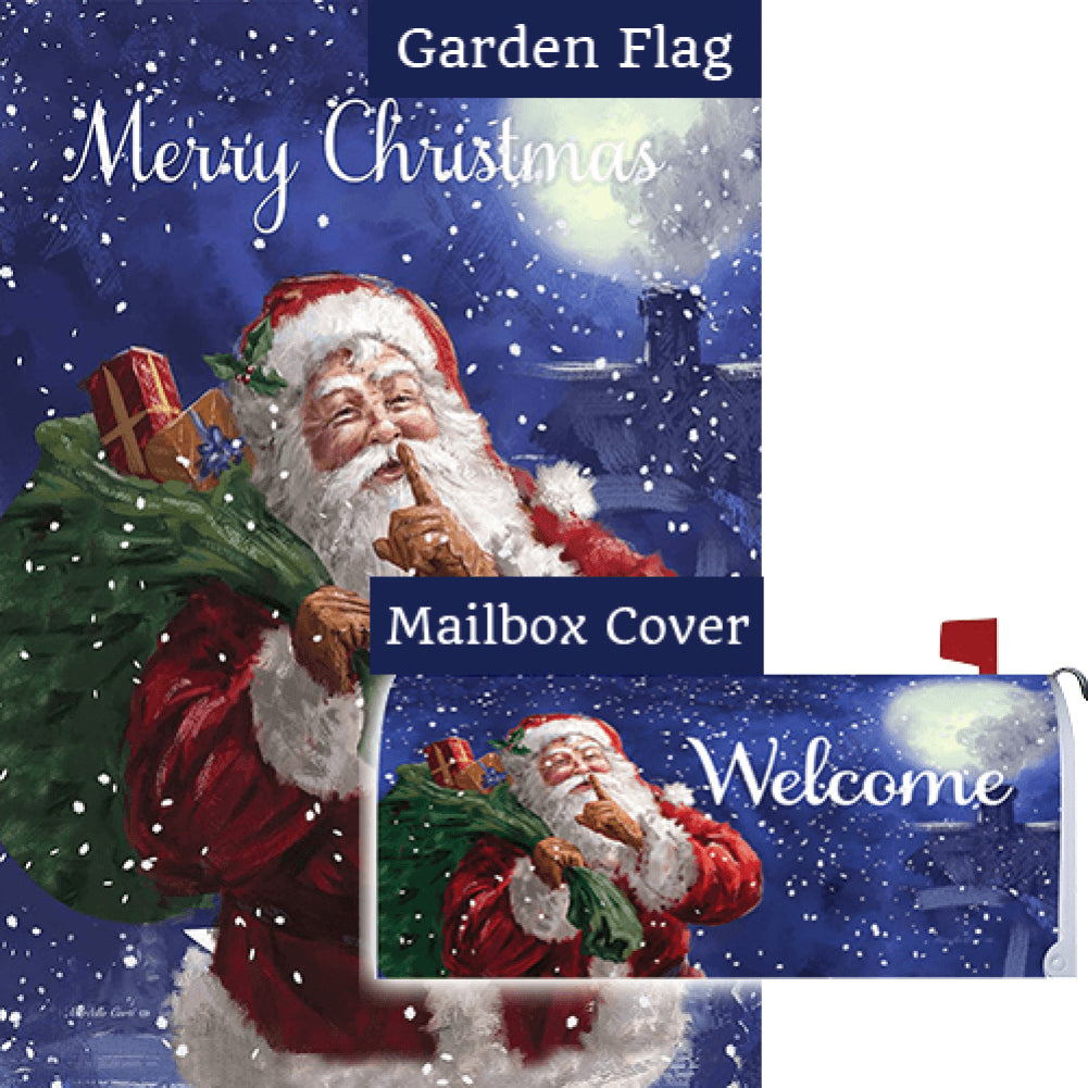Santa Delivery Double Sided Flag Mailwrap Set (2 Pieces)