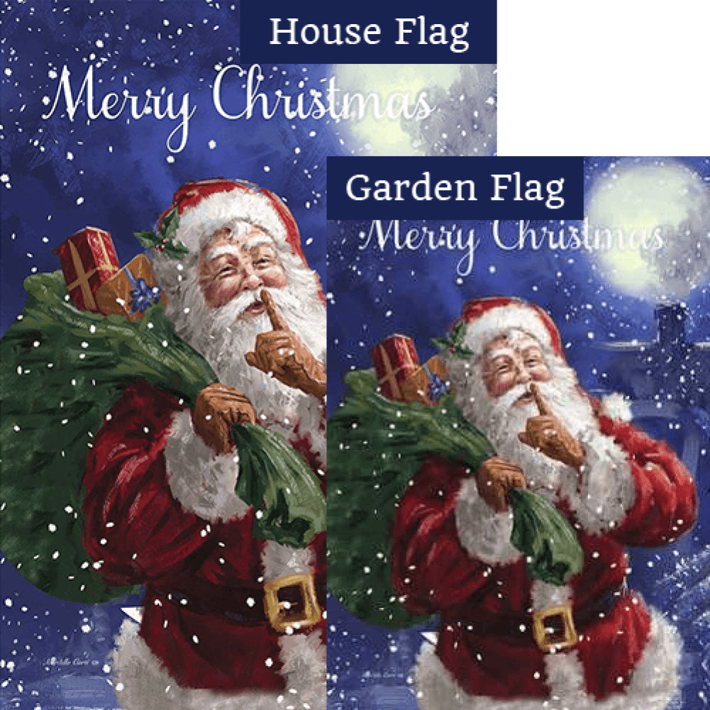 Santa Delivery Double Sided Flags Set (2 Pieces)