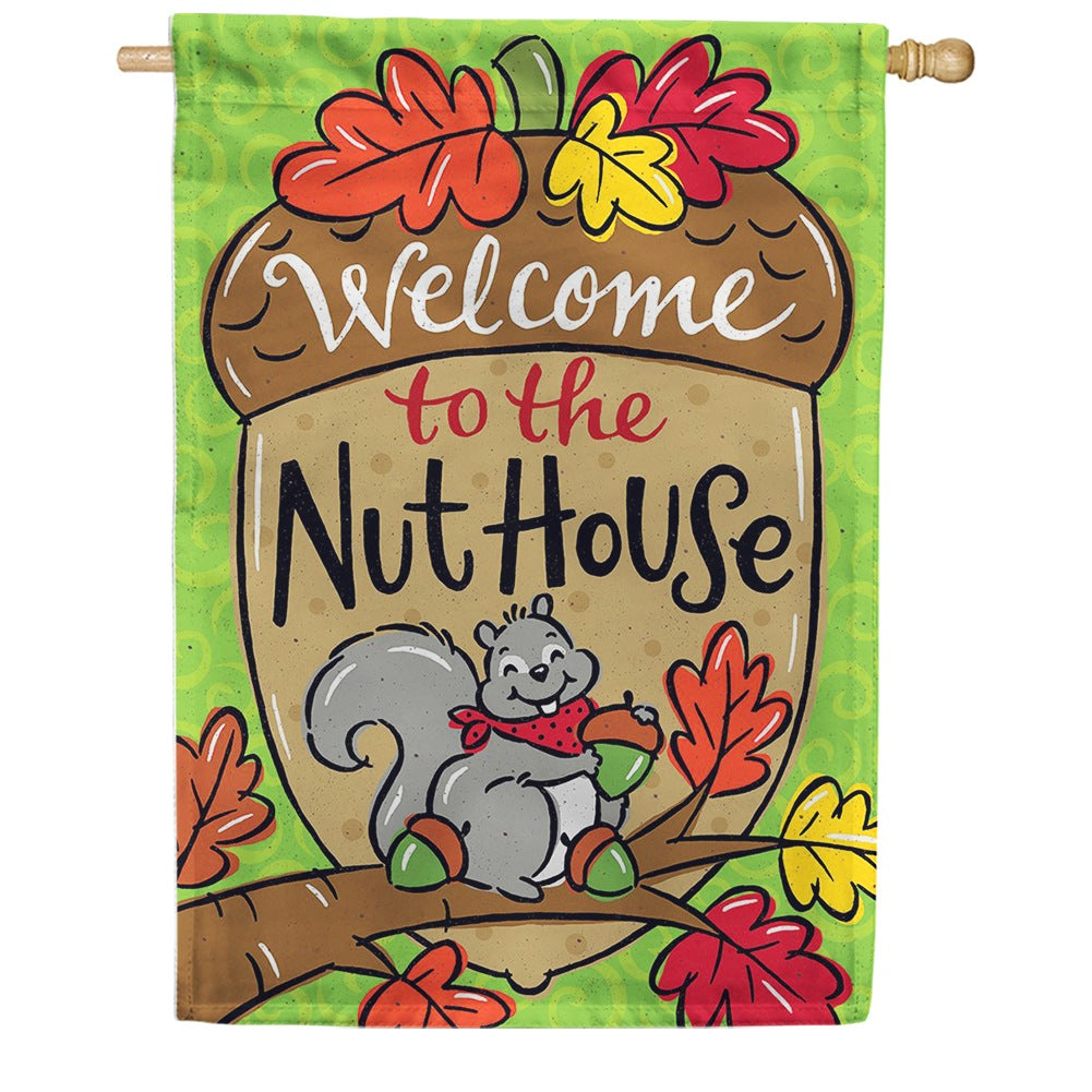Nut House Double Sided House Flag