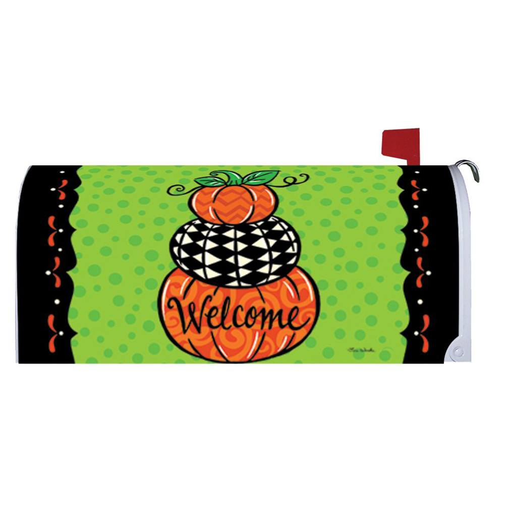 Pumpkin Stack Mailbox Cover