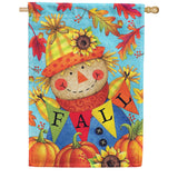 Fall Scarecrow Double Sided House Flag