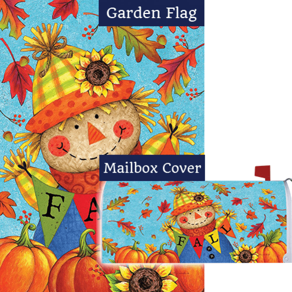 Fall Scarecrow Double Sided Flag Mailwrap Set (2 Pieces)