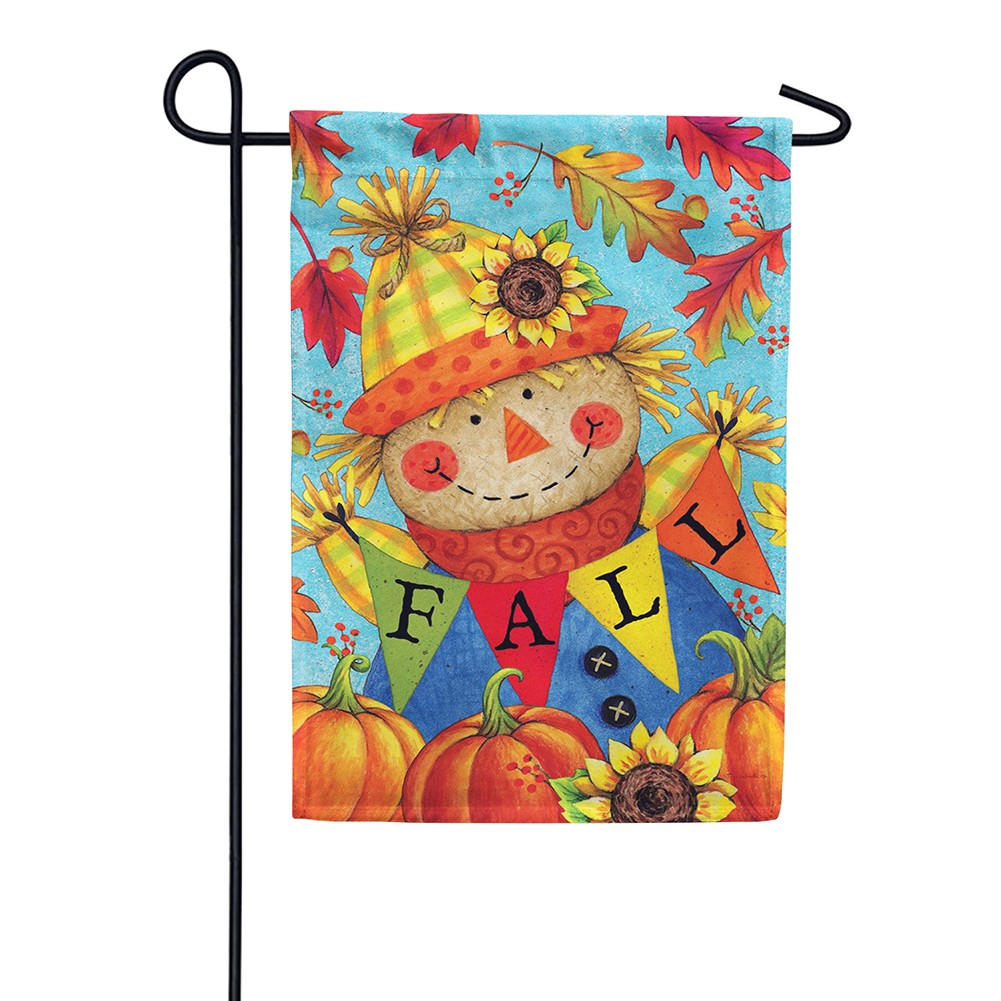 Fall Scarecrow Double Sided Garden Flag
