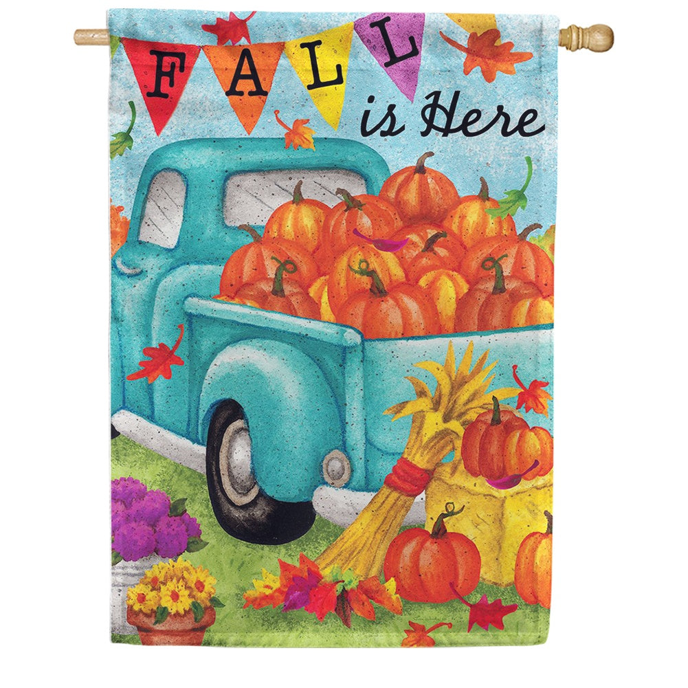 Fall Is Here Double Sided House Flag