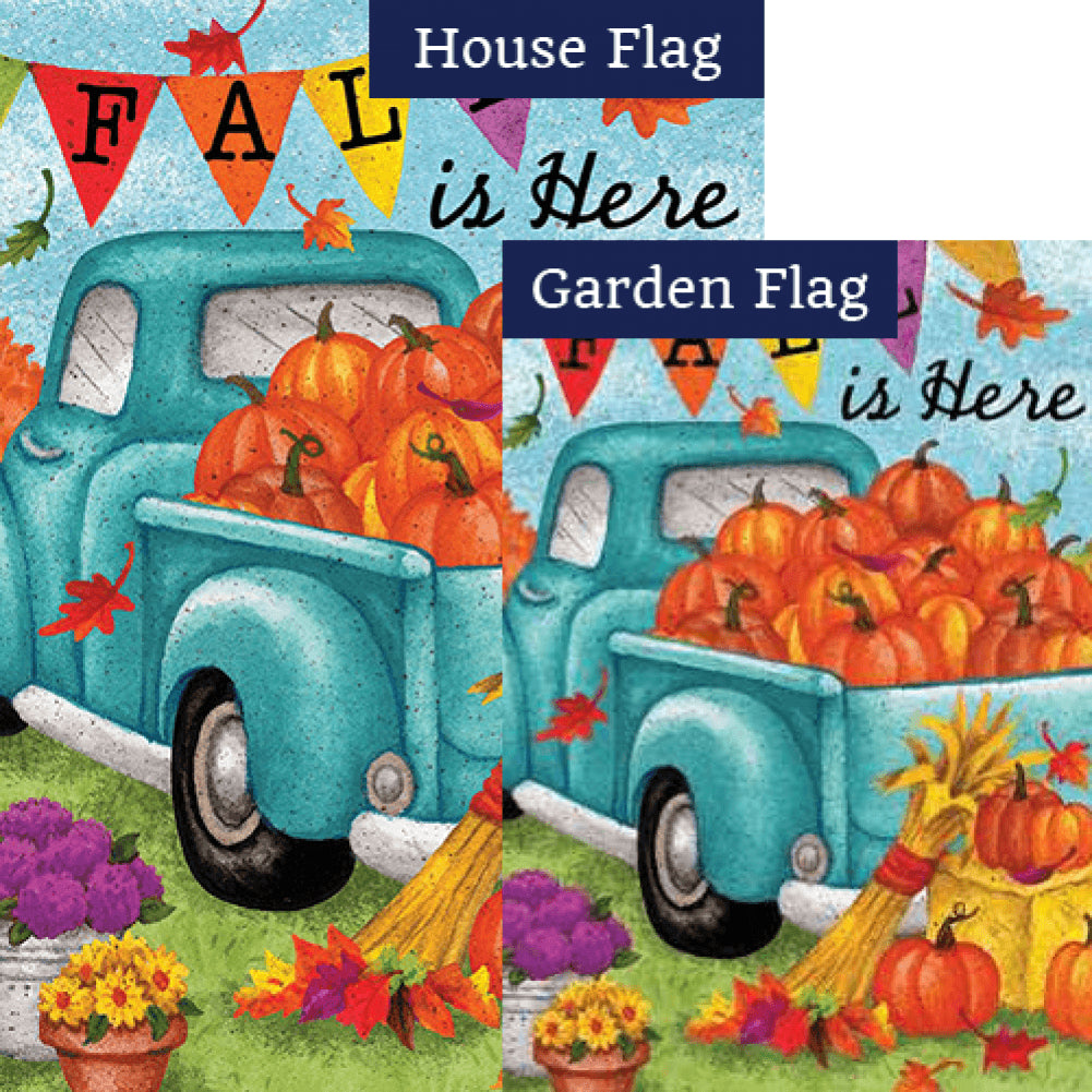 Fall Is Here Double Sided Flags Set (2 Pieces)