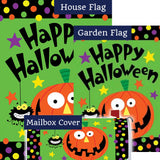 Halloween Pumpkin Double Sided Yard Makeover Set (3 Pieces)