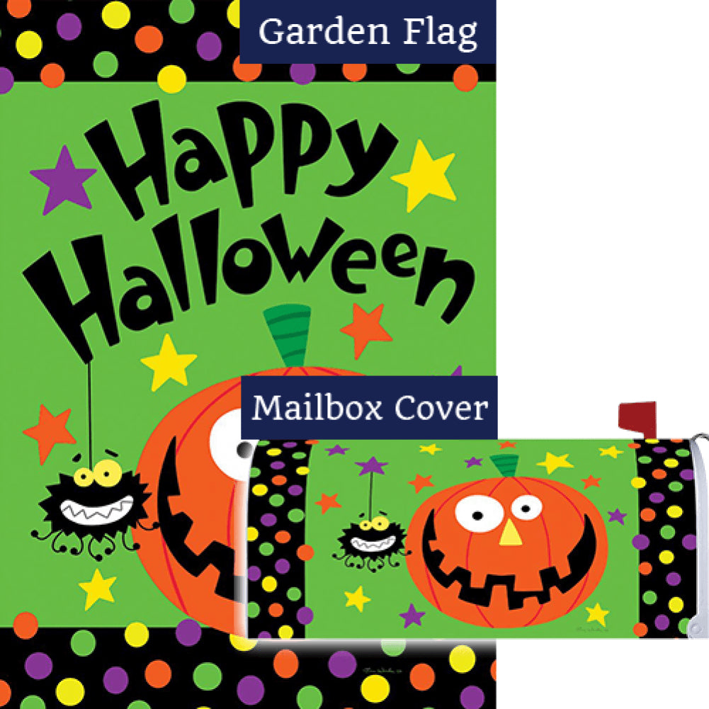 Halloween Pumpkin Double Sided Flag Mailwrap Set (2 Pieces)
