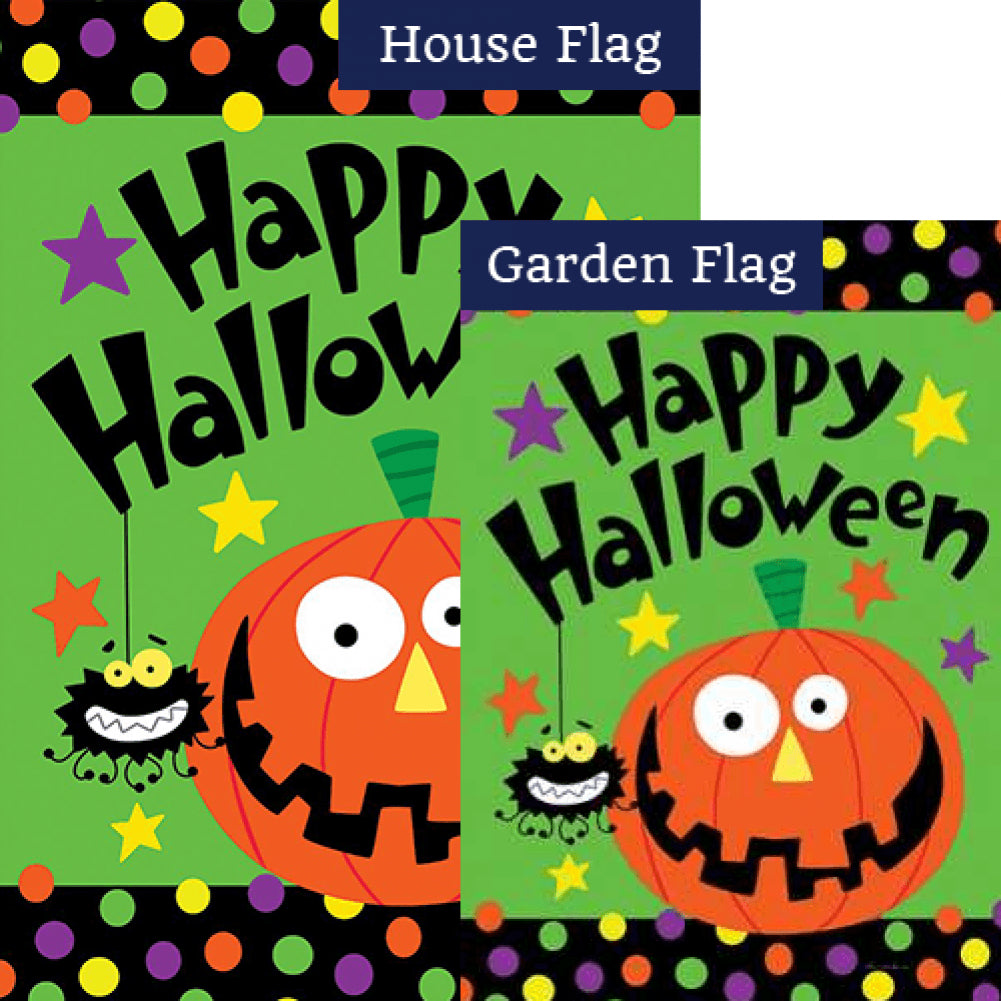 Halloween Pumpkin Double Sided Flags Set (2 Pieces)