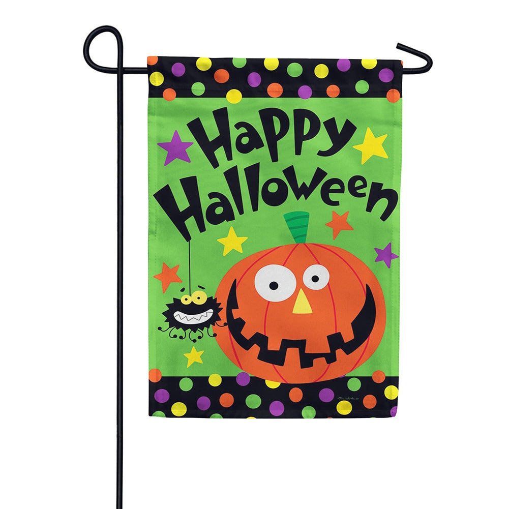 Halloween Pumpkin Double Sided Garden Flag