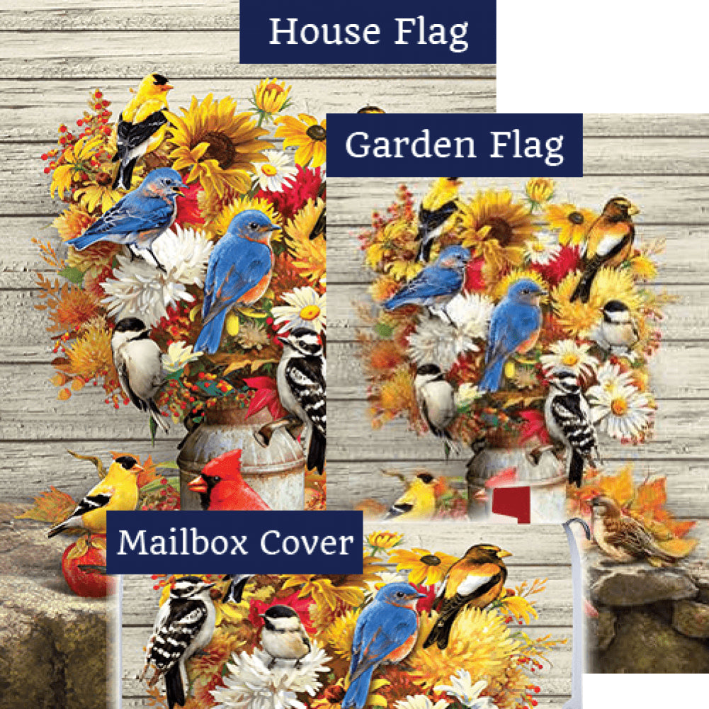 Fall Flowers & Birds Double Sided Yard Makeover Set (3 Pieces)