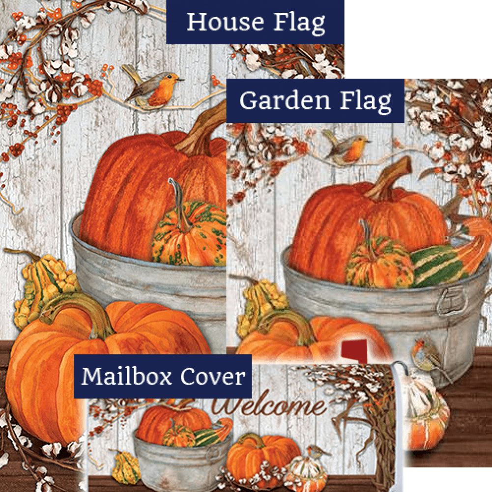 Pumpkins & Cotton Double Sided Yard Makeover Set (3 Pieces)