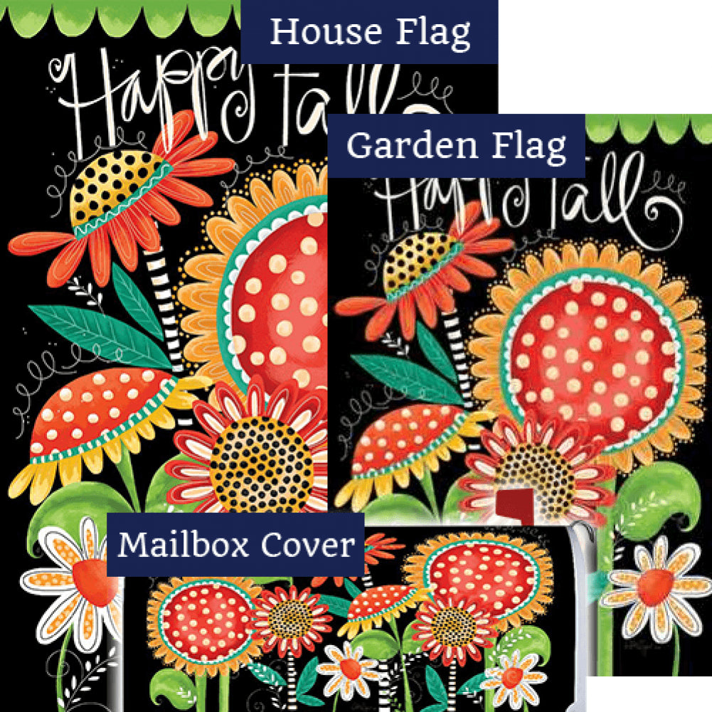 Happy Fall Flowers Double Sided Yard Makeover Set (3 Pieces)