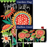 Happy Fall Flowers Double Sided Flag Mailwrap Set (2 Pieces)
