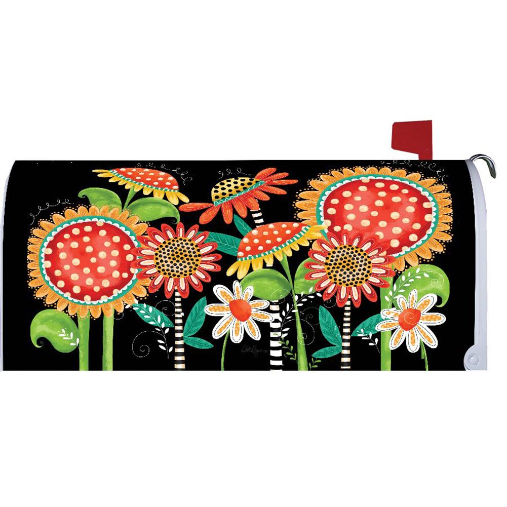 Happy Fall Flowers Mailbox Cover
