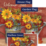 Fall Watering Can Floral Double Sided Yard Makeover Set (3 Pieces)