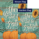 Gather And Be Grateful Double Sided Flags Set (2 Pieces)