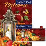 Pumpkin Lantern Double Sided Flag Mailwrap Set (2 Pieces)