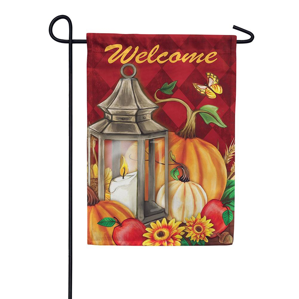 Pumpkin Lantern Double Sided Garden Flag