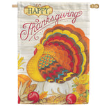 Pumpkin Turkey Double Sided House Flag