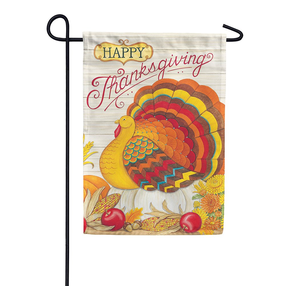 Pumpkin Turkey Double Sided Garden Flag