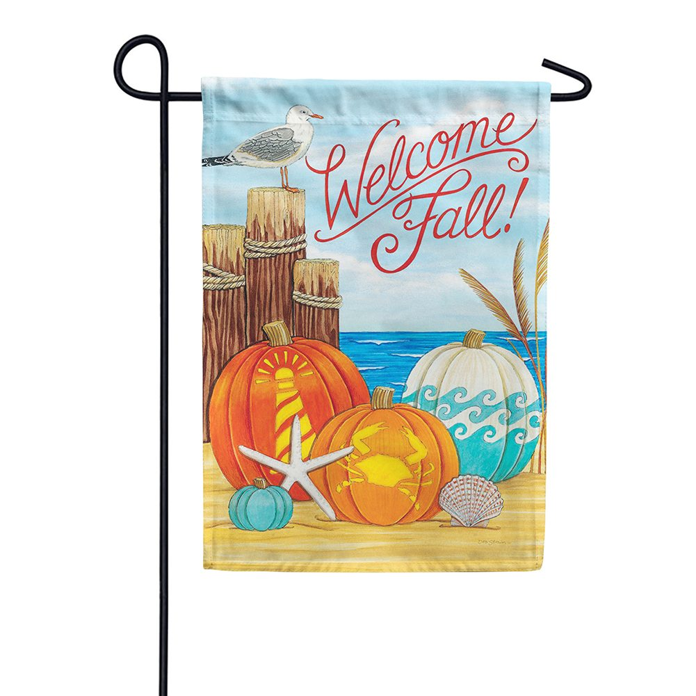 Coastal Pumpkins Double Sided Garden Flag