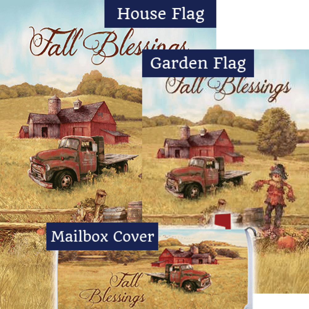Scarecrow & Truck Double Sided Yard Makeover Set (3 Pieces)