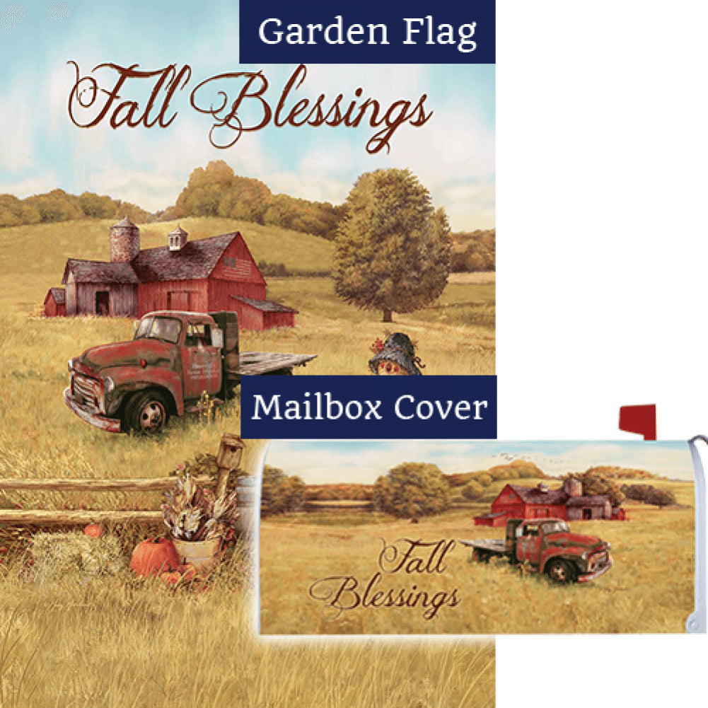 Scarecrow & Truck Double Sided Flag Mailwrap Set (2 Pieces)